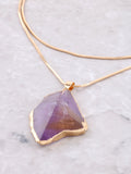 Gemstone Wrap Necklace Anarchy Street Purple - Details