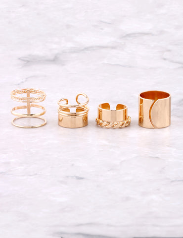 Street Chic Ring Set Anarchy Street Gold