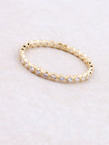 Dotted Stacking Band Ring Anarchy Street Gold