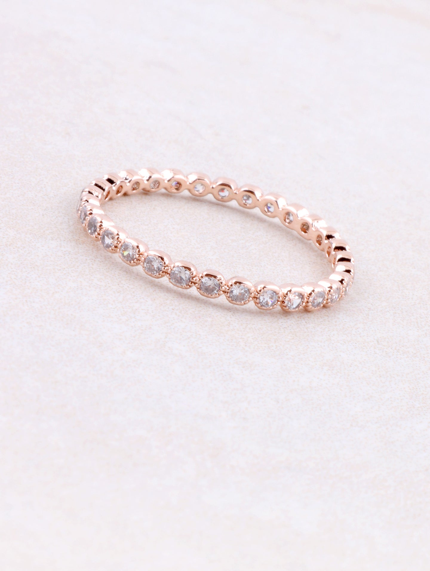 Dotted Stacking Band Ring Anarchy Street Rosegold