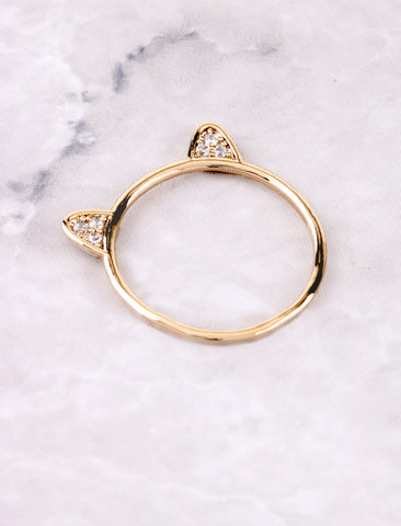 Kitty Ears Ring Anarchy Street Gold