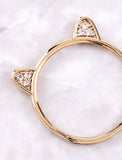 Kitty Ears Ring Anarchy Street Gold - Details