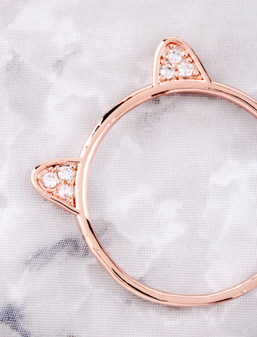 Kitty Ears Ring Anarchy Street Rosegold - Details