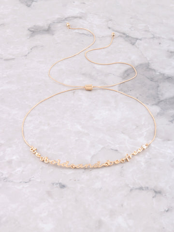 Be Bold Choker Anarchy Street Gold