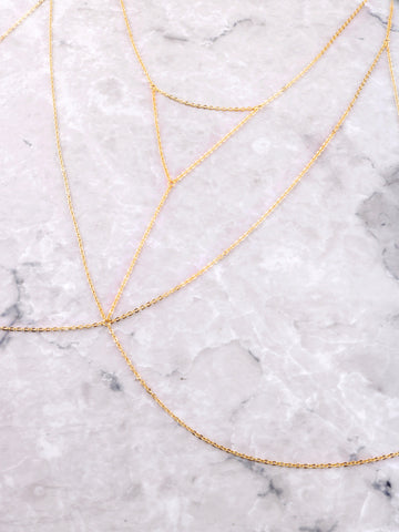 Triangle Cage Body Chain Anarchy Street Gold - Details
