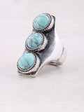 Triple Turquoise Ring Anarchy Street Silver