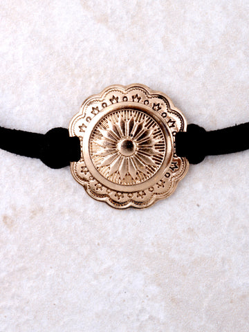 Flower Medallion Choker Anarchy Street Gold - Details