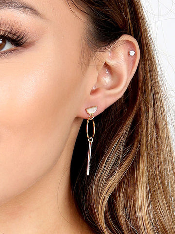 Semi Circle Drop Earring