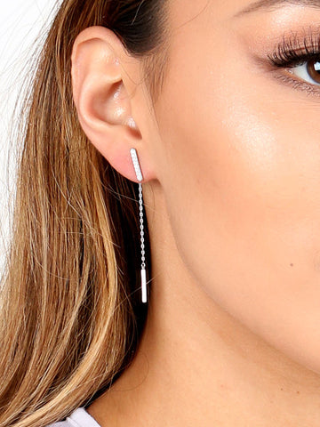 Two Sided Drop Earring