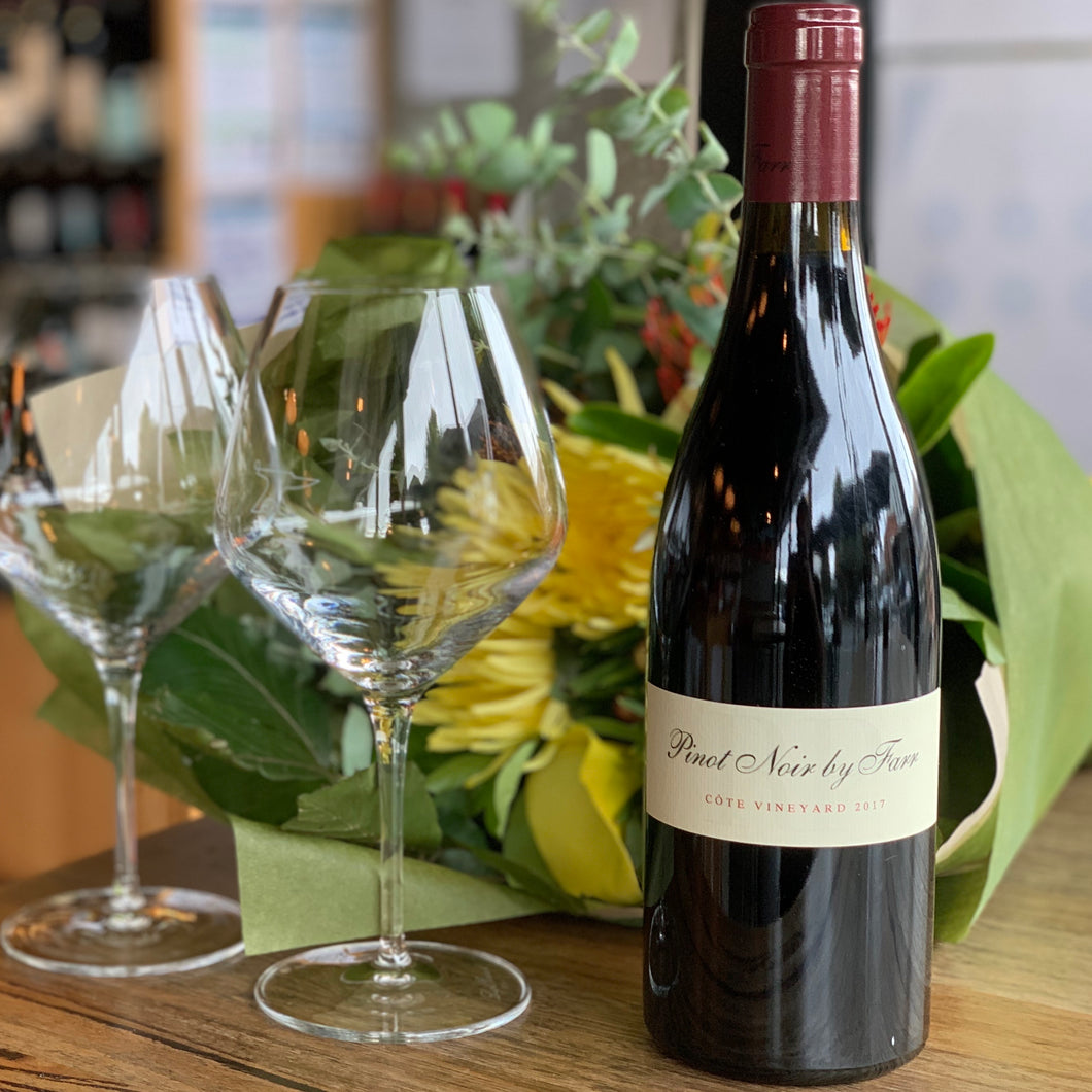 2017 RP Pinot Noir by Farr w/ Burgundy Glassware