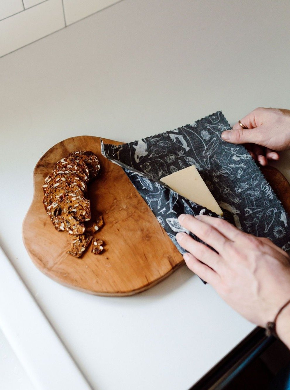 goldilocks beeswax wraps keeps cheese fresh