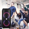 SingMasters PartyBox P30 Portable Wireless Bluetooth Party and Karaoke Speaker System Machine with 2 wireless mics