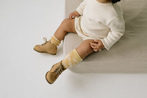 Naturally dyed kids Socks. Naturally dyed and made in the USA.