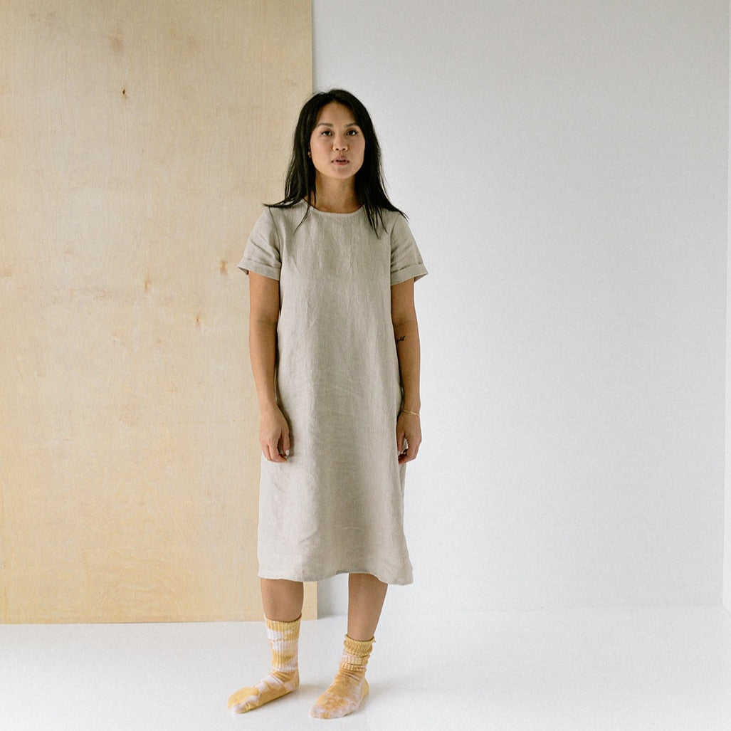 Cocoon Dress - Tortoise & the Hare Clothing | Naturally Dyed Kids Clothes