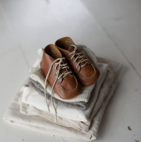 Natural Leather Soft-soled Shoe - Tortoise & the Hare Clothing | Naturally Dyed Kids Clothes