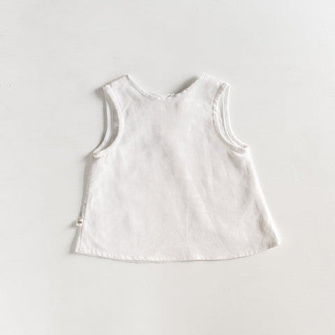 Linen Sleeveless Tank - Tortoise & the Hare Clothing | Naturally Dyed Kids Clothes