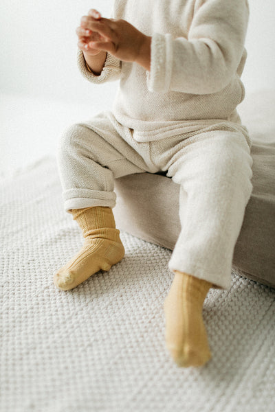 Marigold Socks | Baby - Big Kid - Tortoise & the Hare Clothing | Naturally Dyed Kids Clothes