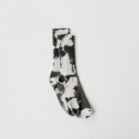 Charcoal Tie Dye Socks | Kid - Teen - Tortoise & the Hare Clothing | Naturally Dyed Kids Clothes
