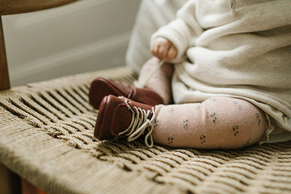 Beet Veg-Tanned Leather Shoe - Tortoise & the Hare Clothing | Naturally Dyed Kids Clothes