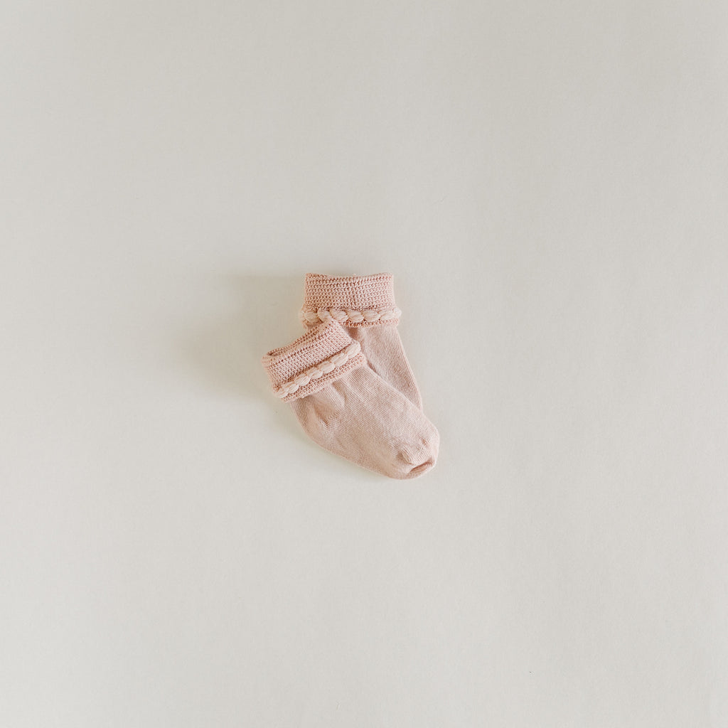 Rose Quartz Scalloped Socks - Tortoise & the Hare Clothing