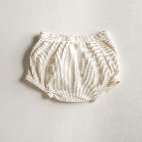 Organic Waffle Knit Bubble Shorts - Tortoise & the Hare Clothing | Naturally Dyed Kids Clothes