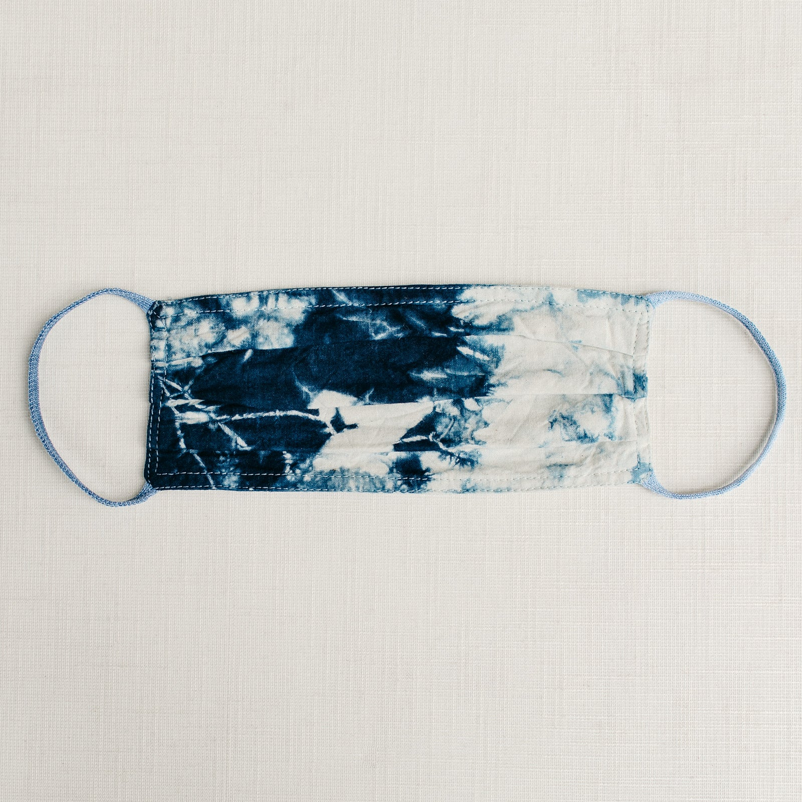 Indigo Tie Dye Cloth Face Mask - Tortoise & the Hare Clothing | Naturally Dyed Kids Clothes
