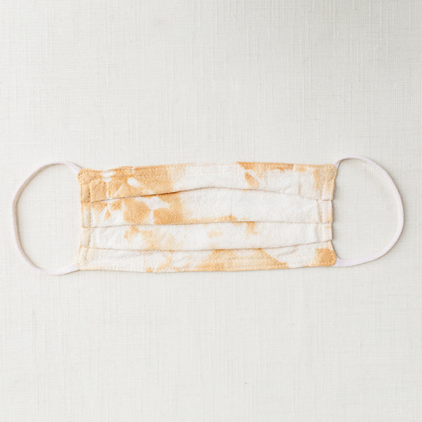 Marigold Tie Dye Cloth Face Mask - Tortoise & the Hare Clothing | Naturally Dyed Kids Clothes