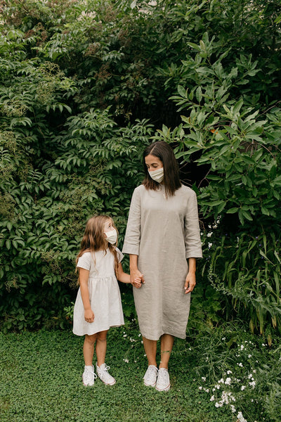 Natural Cotton Cloth Mask - Tortoise & the Hare Clothing | Naturally Dyed Kids Clothes
