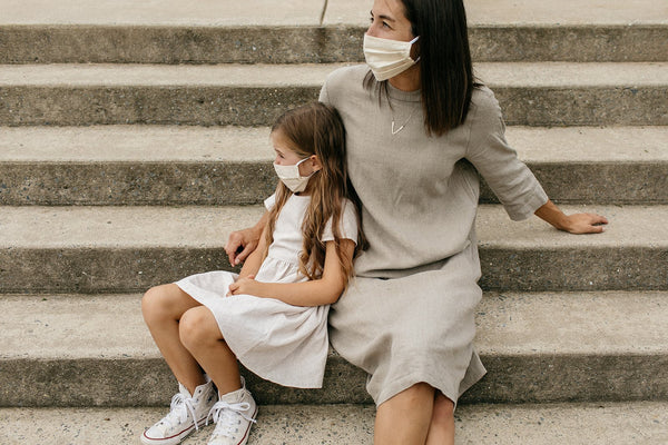 Marigold Cloth Mask- Naturally Dyed - Tortoise & the Hare Clothing | Naturally Dyed Kids Clothes
