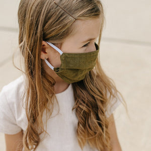 Forest Cloth Mask- Naturally Dyed - Tortoise & the Hare Clothing | Naturally Dyed Kids Clothes