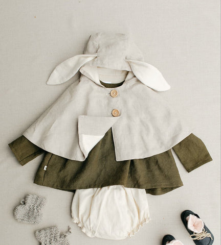 Rabbit Cape - Tortoise & the Hare Clothing | Naturally Dyed Kids Clothes