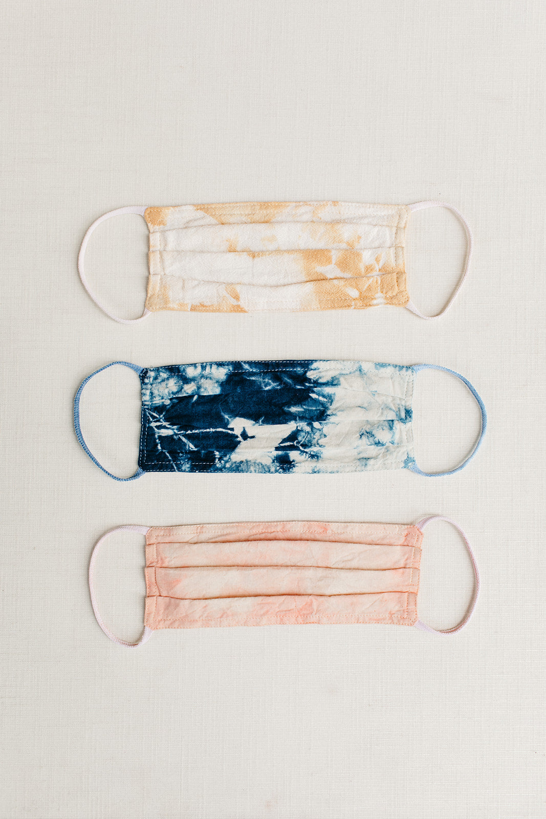 Indigo Tie Dye Cloth Face Mask - Tortoise & the Hare Clothing