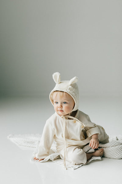 Organic Polar Bear Cap - Tortoise & the Hare Clothing | Naturally Dyed Kids Clothes