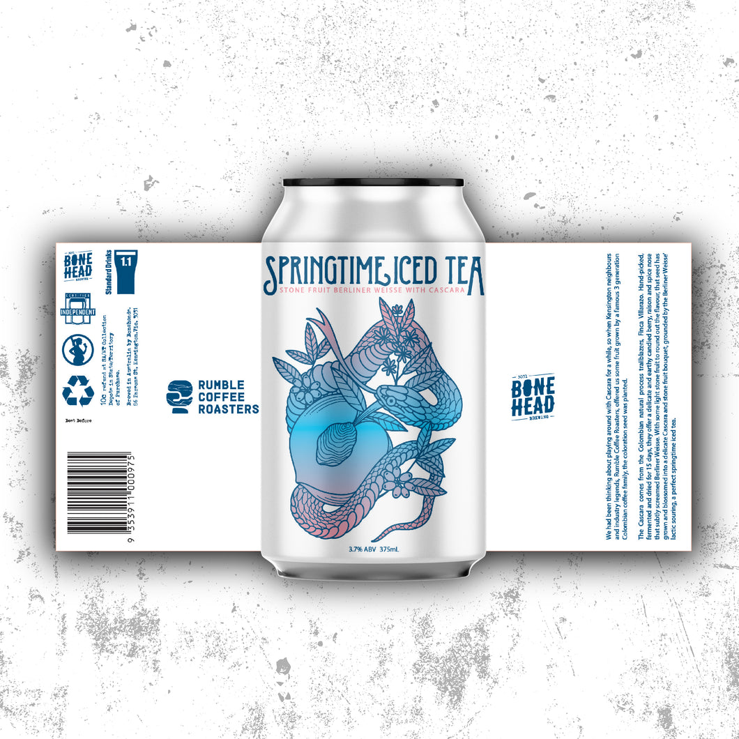 Springtime Iced Tea - Stone Fruit Berliner Weisse with Cascara (Collab with Rumble Coffee Roasters)