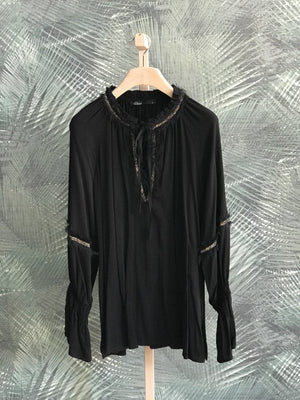 DEVOTION TWINS BLOUSE BLACK