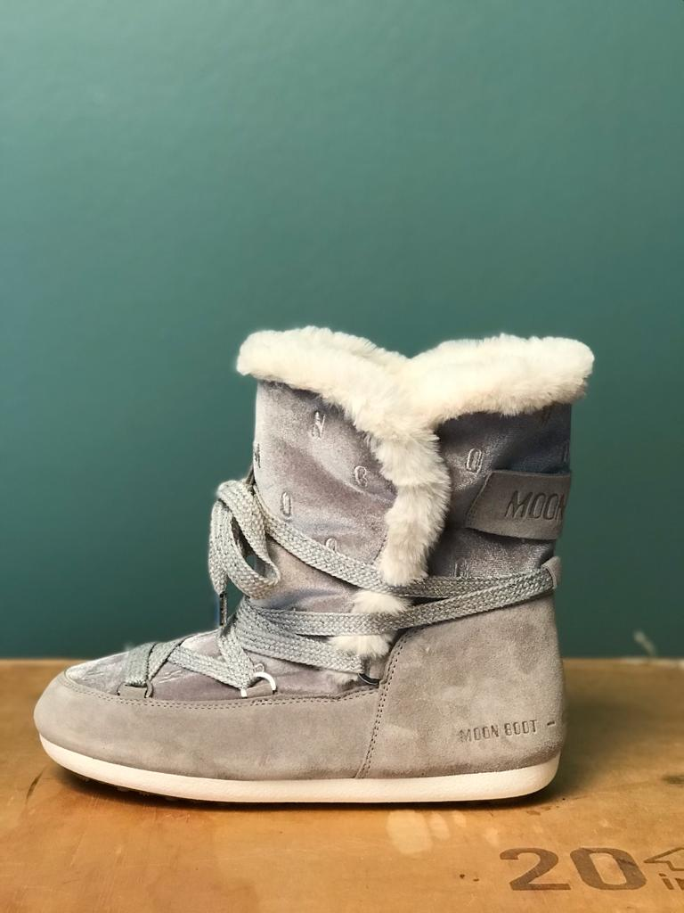 MOON BOOT DARK SIDE HIGH CHENILLE für Damen in grau, Seitenansicht