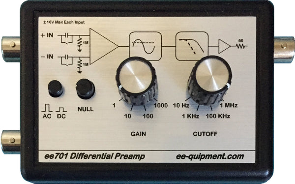 ee701 Differential Preamp Top View