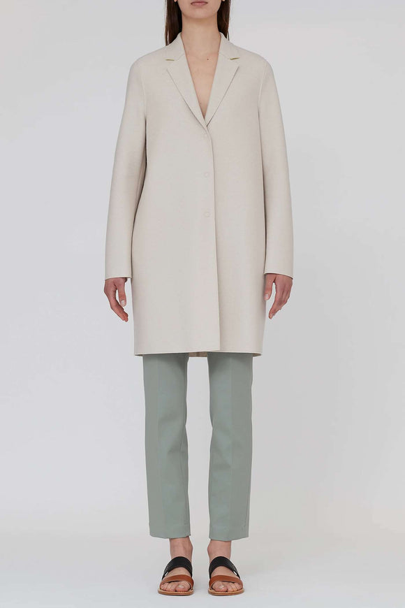 Cocoon coat in light pressed wool - BoUvy