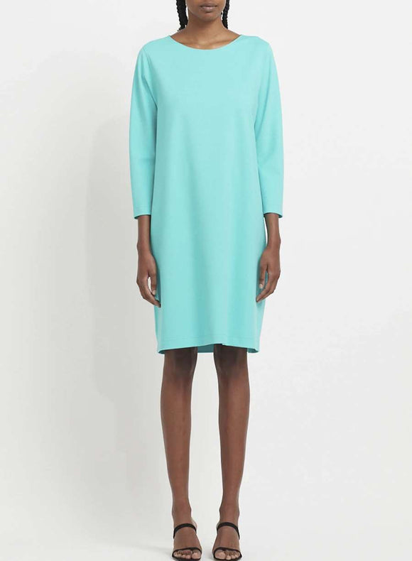 Geometric boxy dress in techno viscose - BoUvy