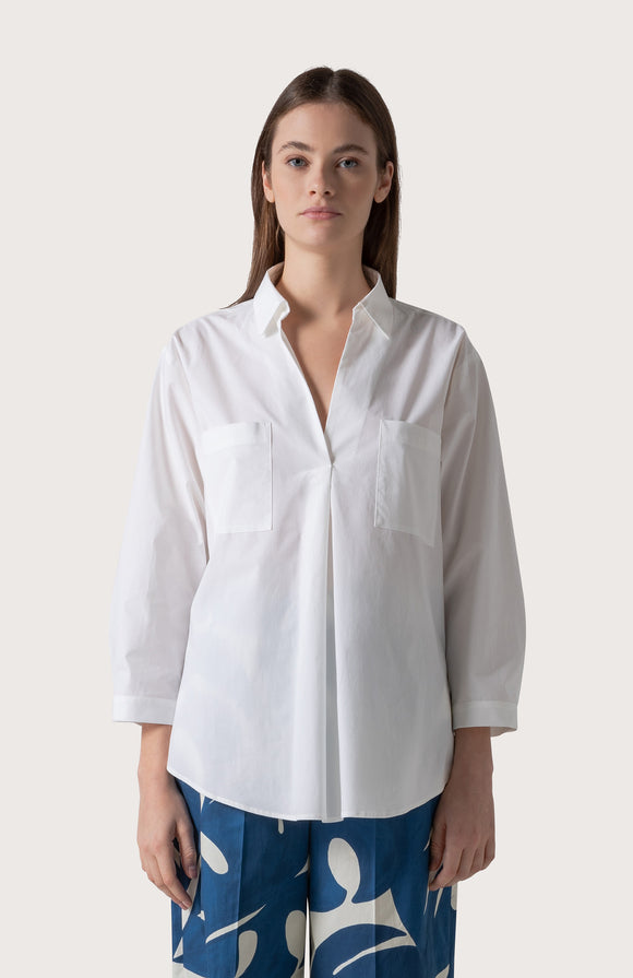 Stretch poplin shirt - BoUvy