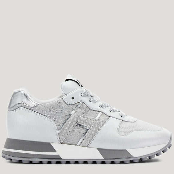 Sneakers H383 white, silver - BoUvy