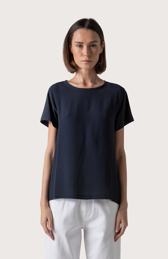 Jersey and crêpe t-shirt - BoUvy