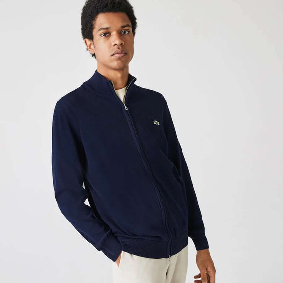 Men's Stand-up Collar Organic Cotton Zippered Sweater - BoUvy