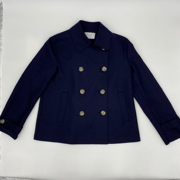 Cropped trench in light pressed wool - BoUvy