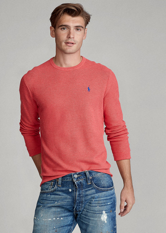 Cotton Mesh Crewneck Jumper - BoUvy