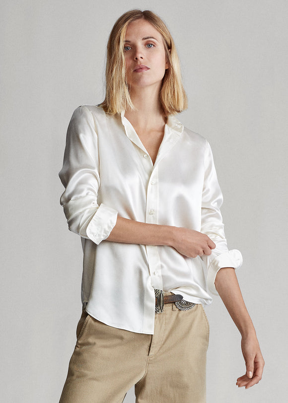 Silk Charmeuse Shirt - BoUvy