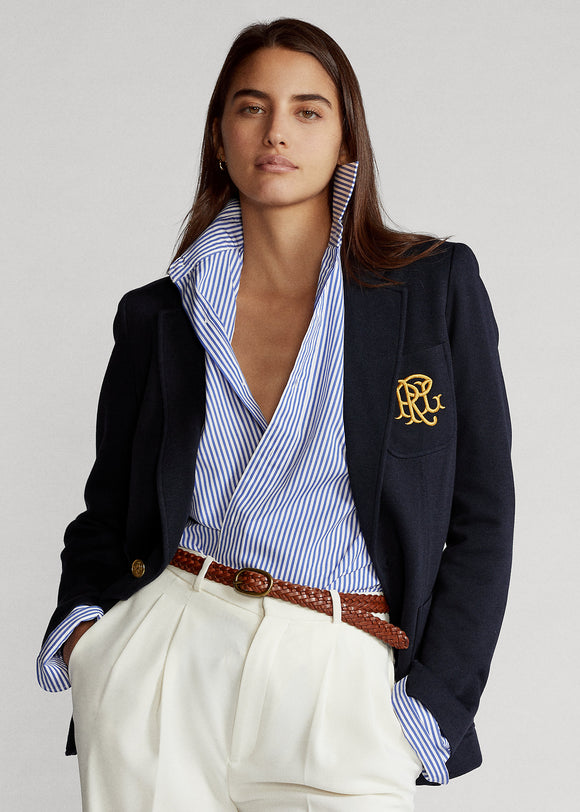 Double-Knit Jacquard Blazer