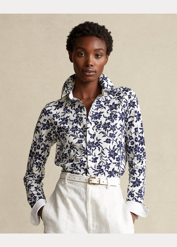 Floral Cotton Button-Down Shirt - BoUvy