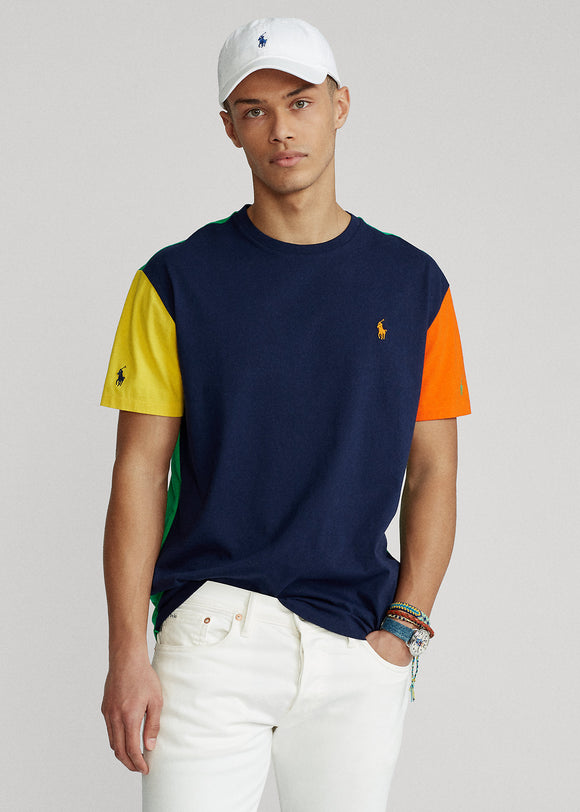 Classic Fit Color-Blocked Jersey T-Shirt - BoUvy
