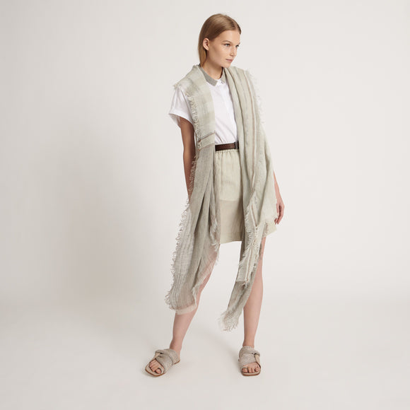 organic linen and cotton poncho - BoUvy